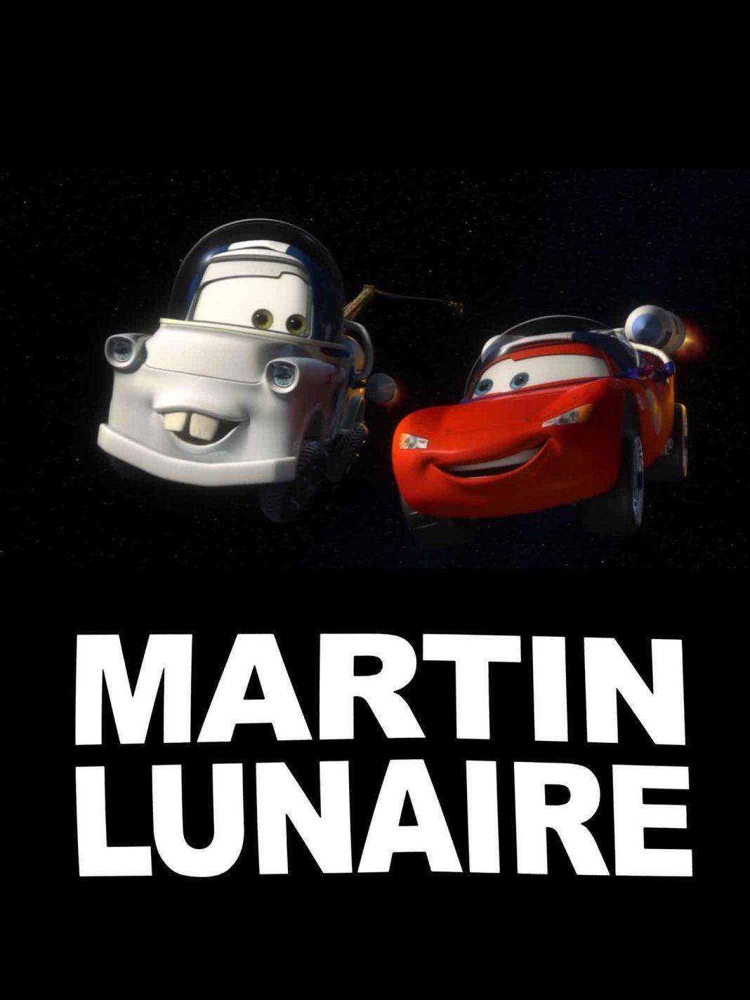 Pixar disney cars toon martin lunaire moon mater affiche poster