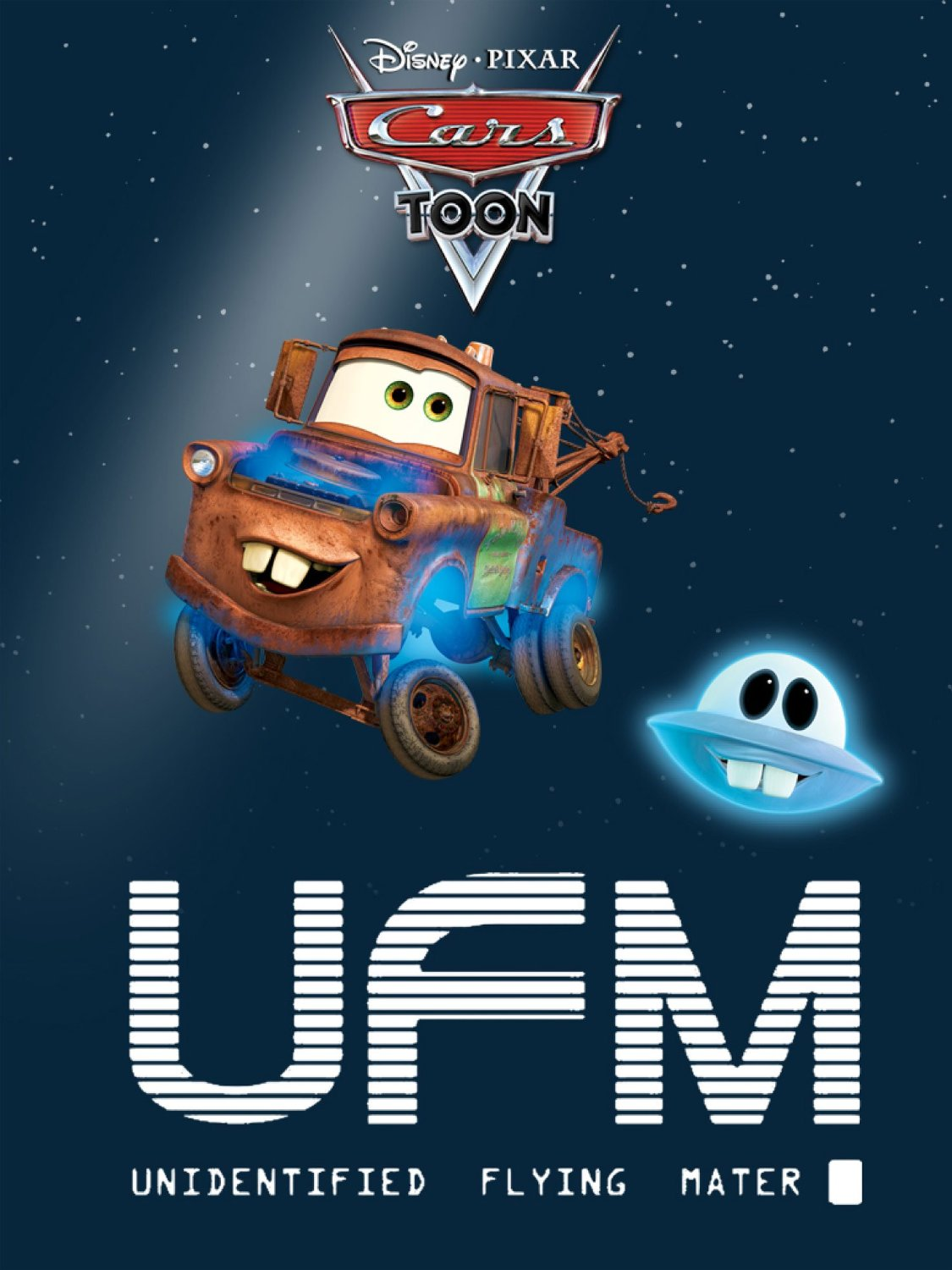 Pixar disney cars toon martin volant non identifié unidentified flying mater affiche poster