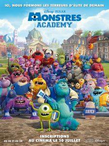 pixar disney affiche monstres academy monsters university poster