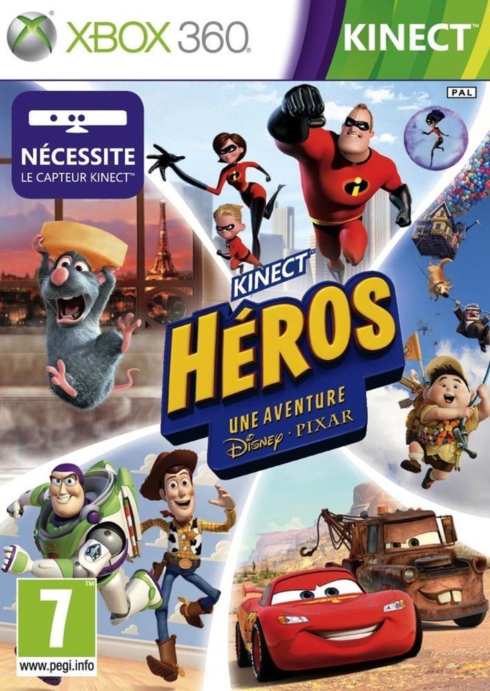 """Le jeu vidéo """"Kinect Heros : une aventure Disney Pixar""""."""