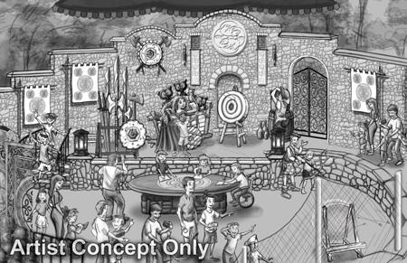 Des concept art de Merida à Disneyland.