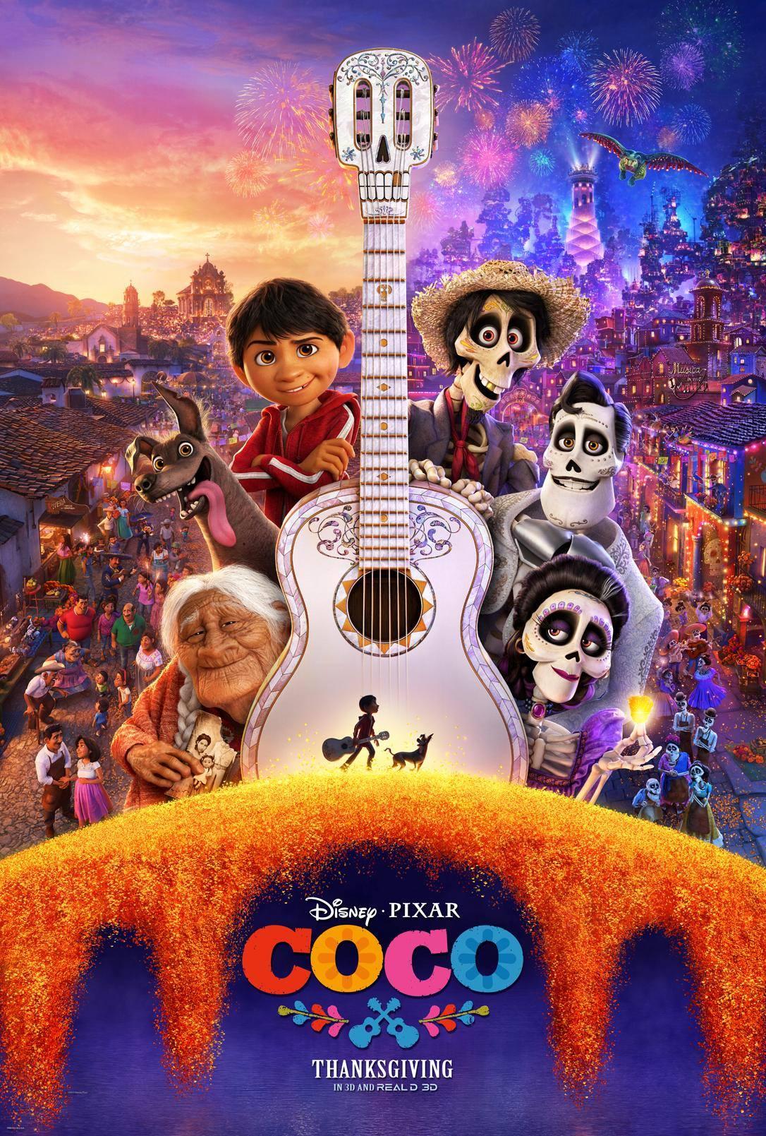 affiche poster coco disney pixar