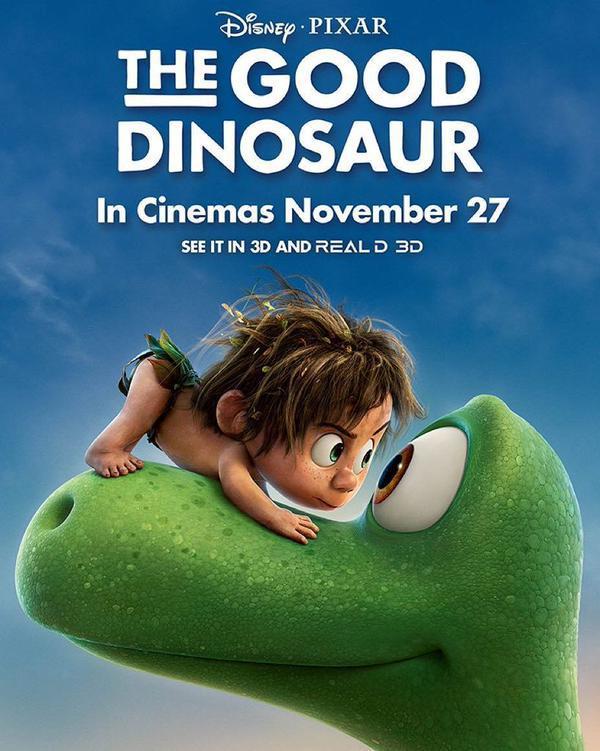 affiche poster voyage arlo good dinosaur disney pixar