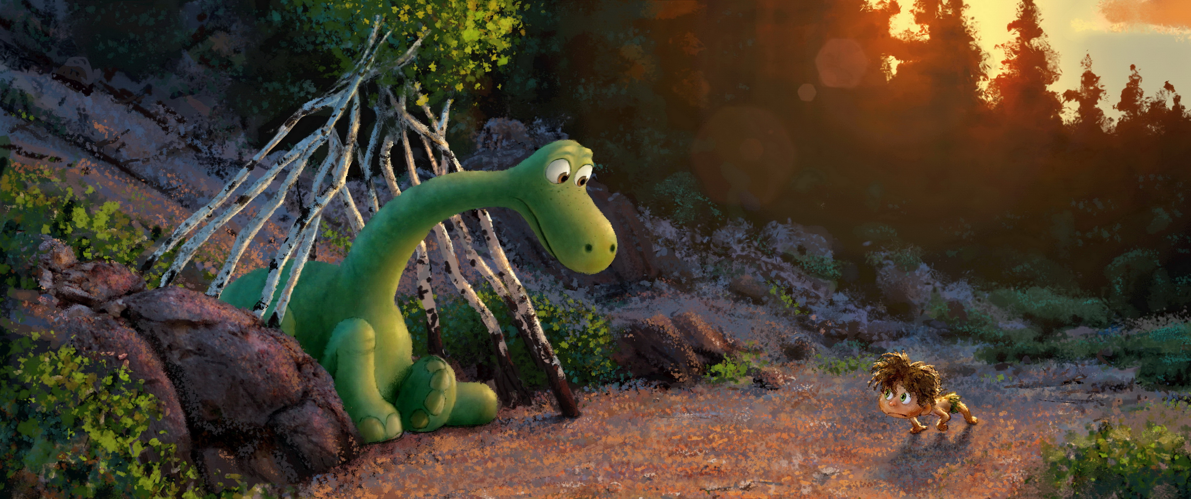 pixar disney voyage arlo good dinosaur artwork