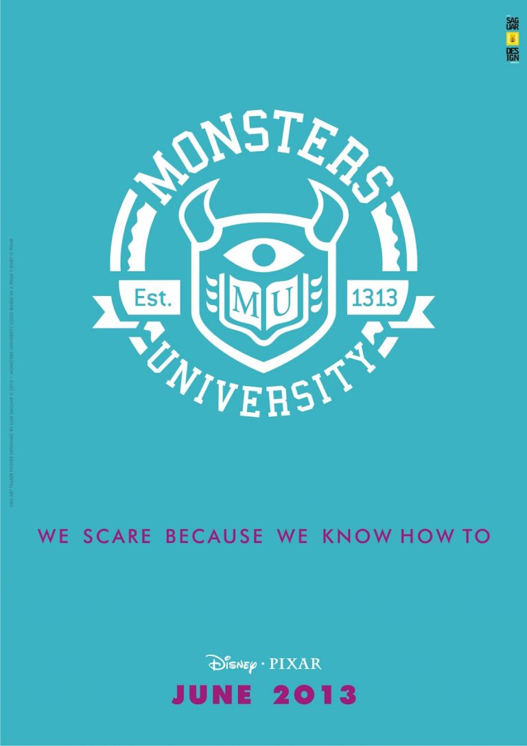 """Des affiches d'un fan pour """"Monstres Academy""""."""