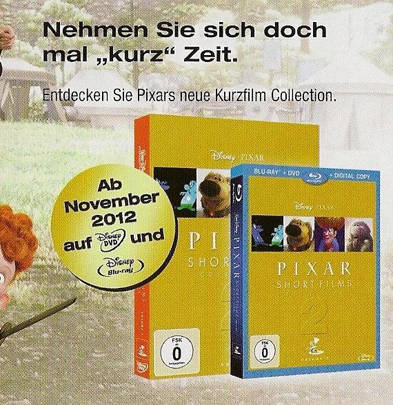 Confirmation du DVD et BRD des courts-métrages volume 2.