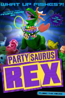 affiche poster toy story toons rex roi fête party central disney pixar