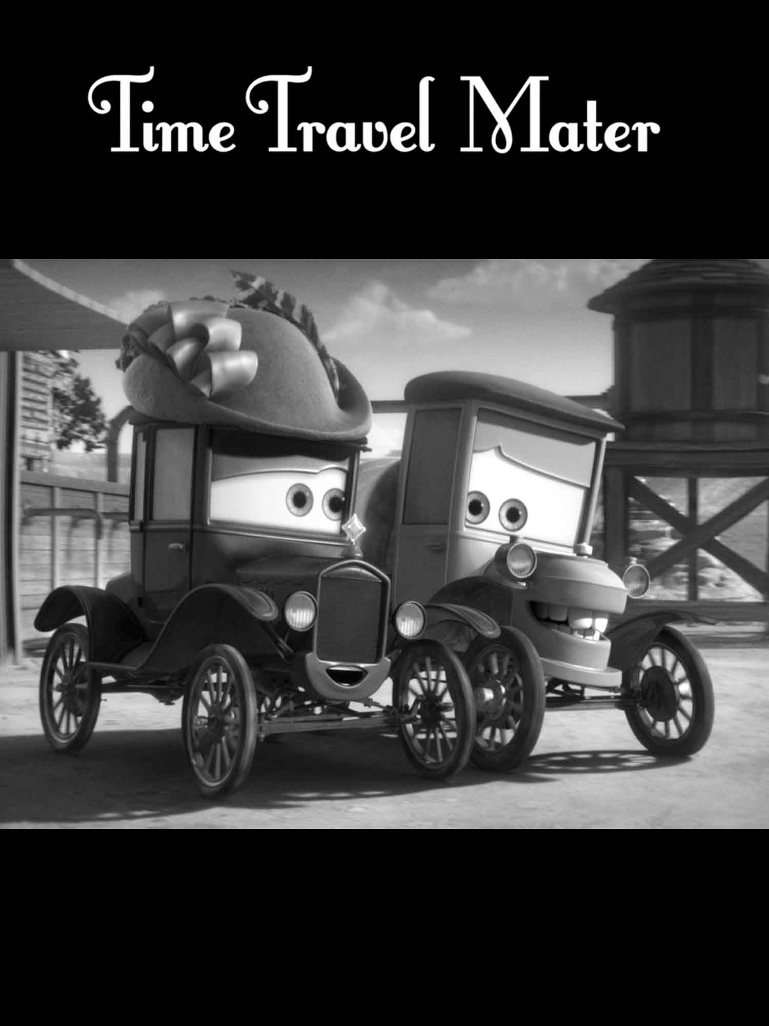 Pixar disney cars toon time travel mater martin remonte le temps affiche poster