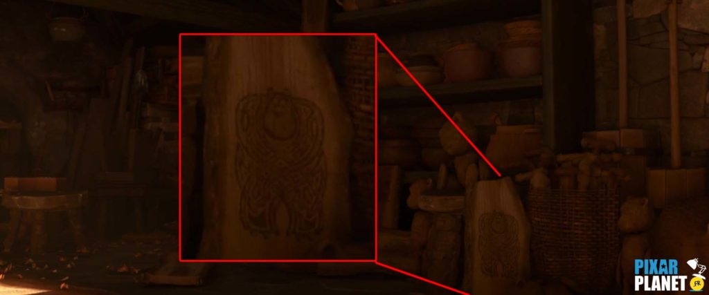 clin oeil rebelle easter egg brave disney pixar