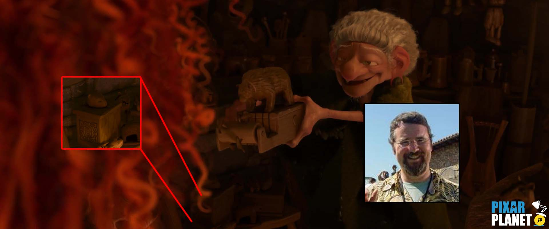 clin oeil rebelle easter egg brave disney pixar