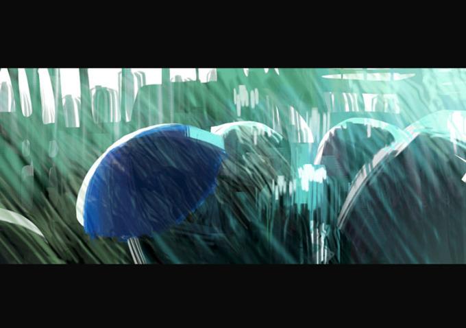 Pixar disney le parapluie bleu the blue umbrella artwork concept art