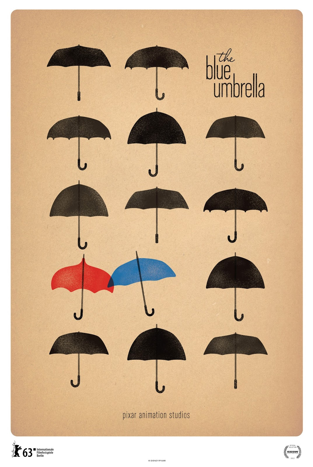 Pixar disney affiche poster le parapluie bleu the blue umbrella