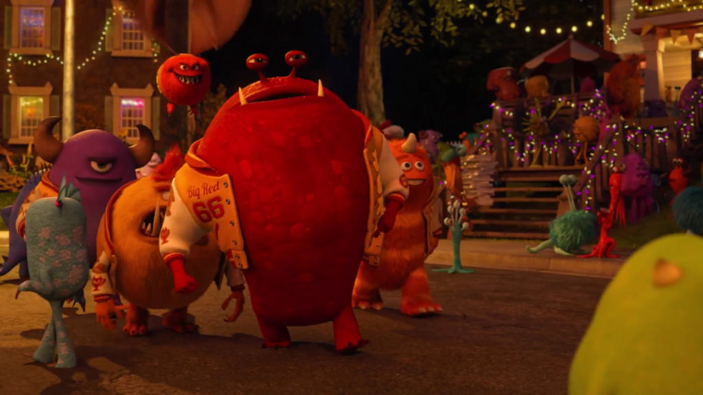 roy big red growlahan  pixar disney personnage character monstres academy monsters university