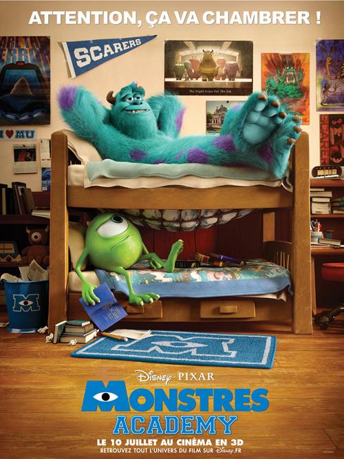 Pixar Disney Monstres Academy Affiche