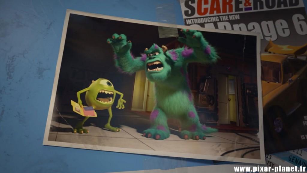pixar disney monstres academy clin oeil easter egg monsters university