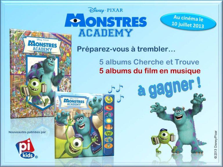 """Jeu concours pour gagner des livres """"Monstres Academy""""."""