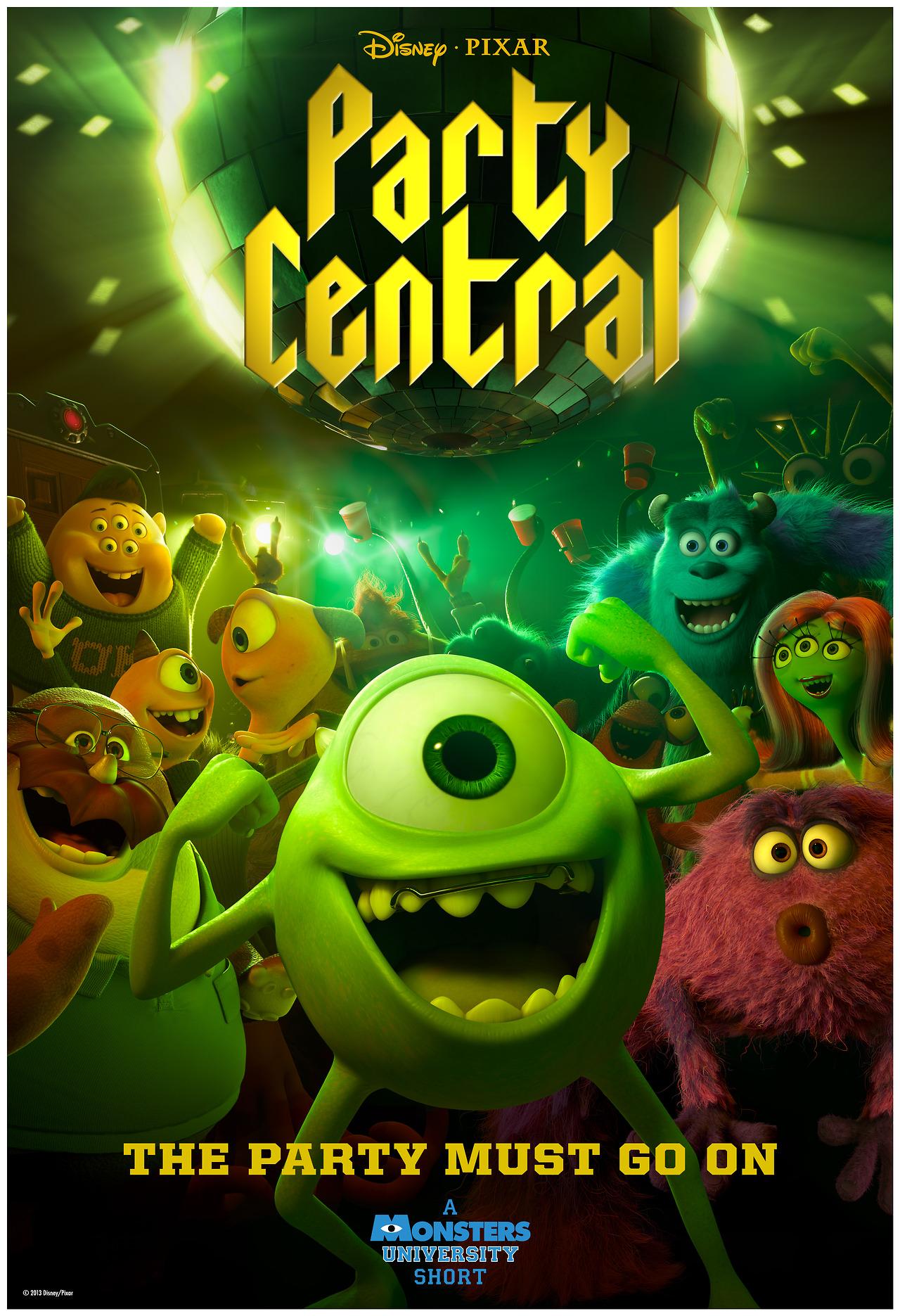 affiche poster party central disney pixar