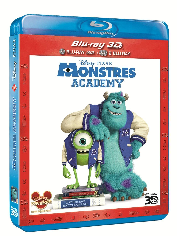 blu-ray 3d monstres academy jaquette disney pixar