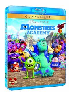 blu-ray monstres academy   jaquette disney pixar