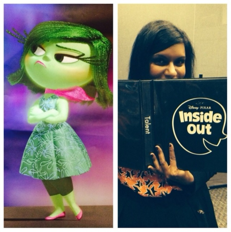 Pixar Disney Inside Out Coulisse Mindy Kaling
