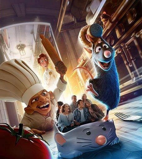 Pixar Disney Disneyland Paris Ratatouille Attraction