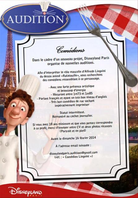 Pixar Disney Disneyland Ratatouille Linguini