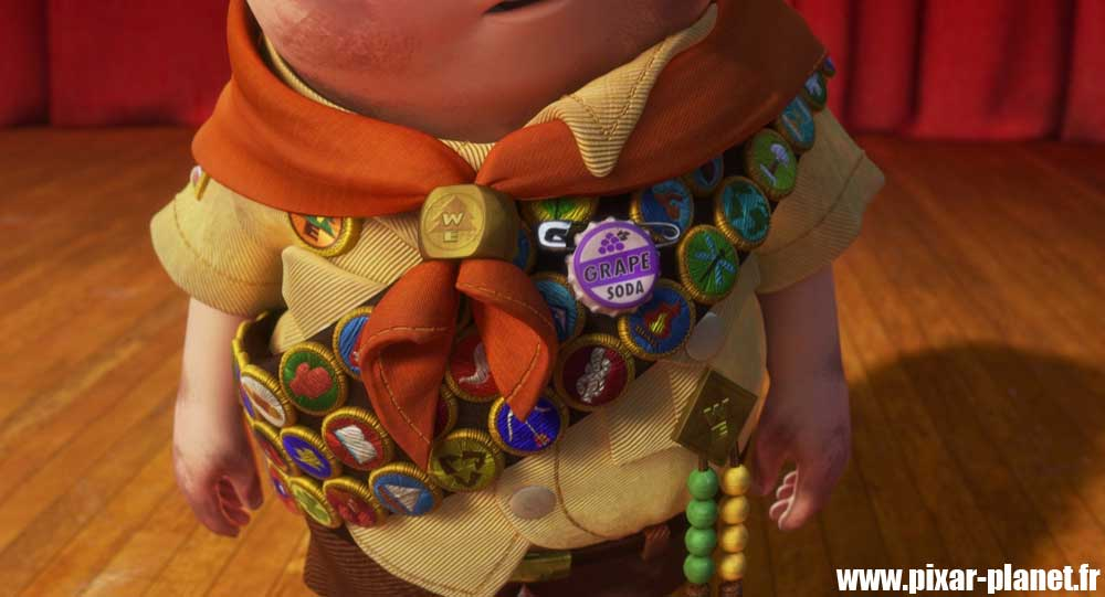 Pixar Disney badge Ellie Russell Là-haut Up