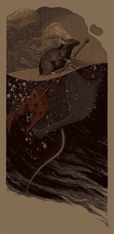 Pixar Disney Aaron Horkey Mondo Poster Affiche Ratatouille