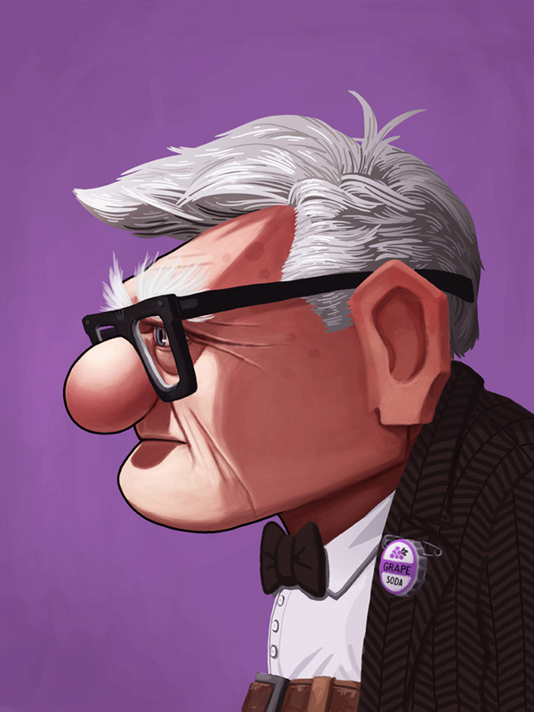 Pixar Disney Mike Mitchell Mondo Poster Affiche Up Là-haut