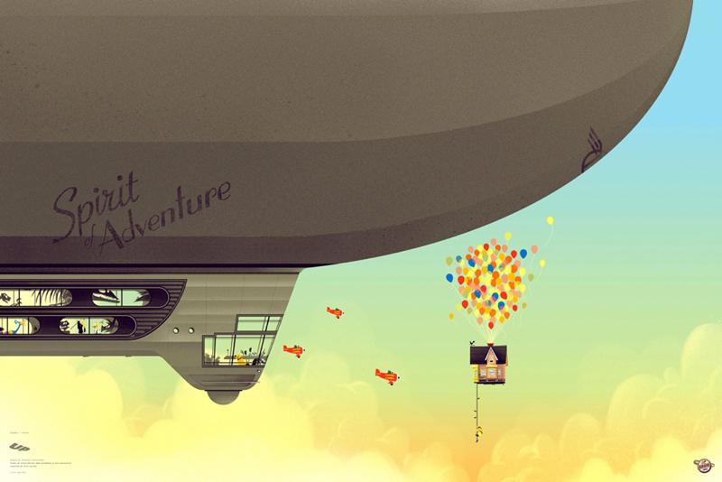 Pixar Disney Kevin Tonk Mondo Poster Affiche Up Là-haut