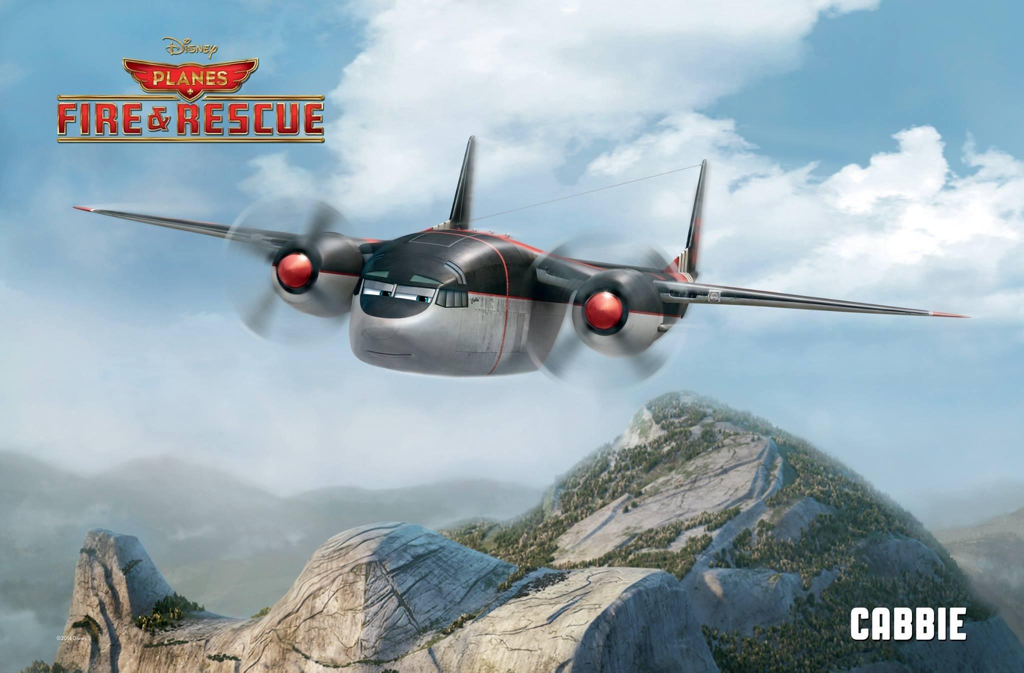 Pixar Disney Planes mission canadair Cabbie