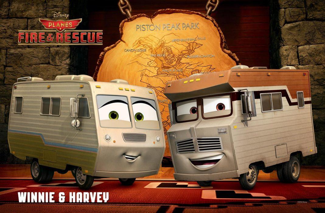 Pixar Disney Planes mission canadair Harvey et Winnie