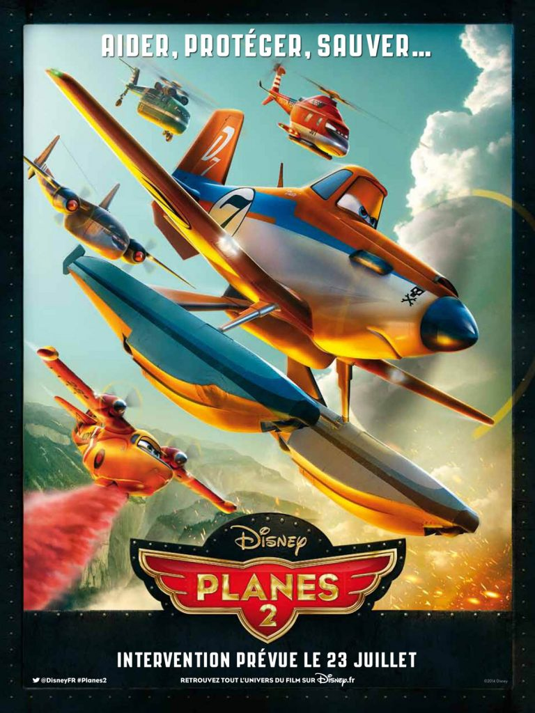 Pixar Disney planes 2 mission canadair affiche poster