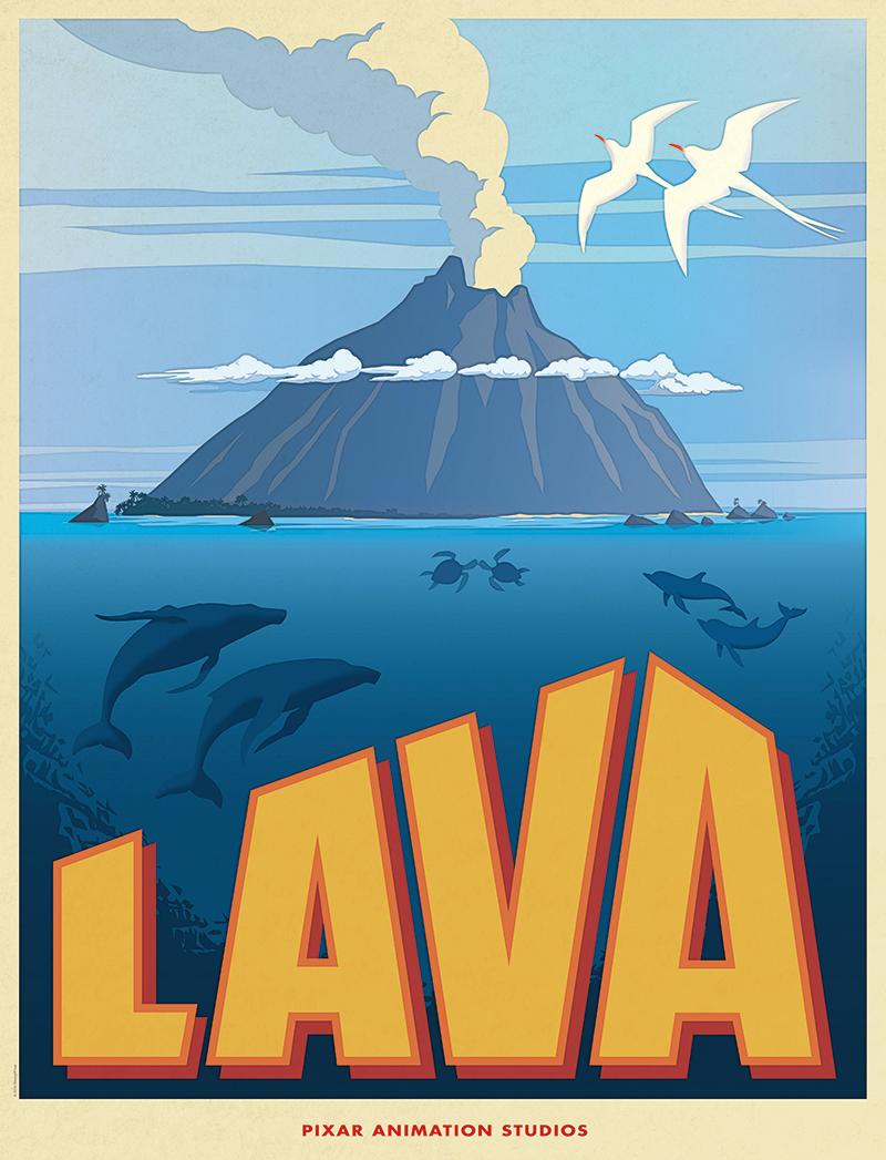 Pixar Disney poster affiche lava