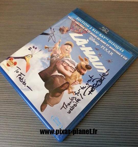 Pixar Disney autographe pete docter