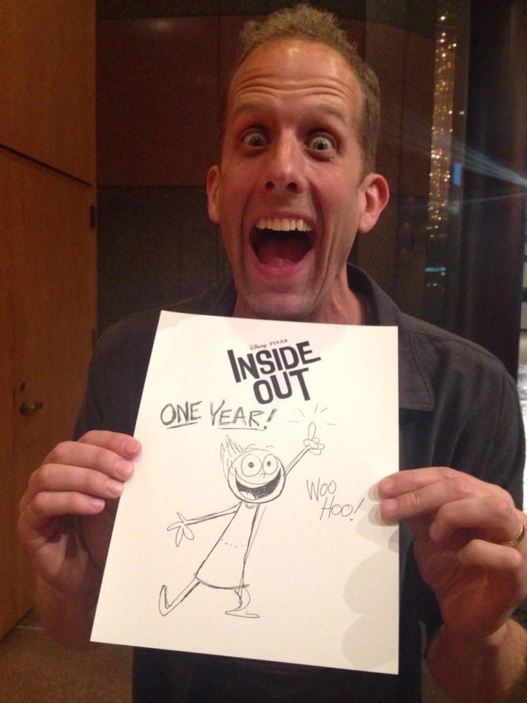 Pixar Disney Inside Out artwork pete docter