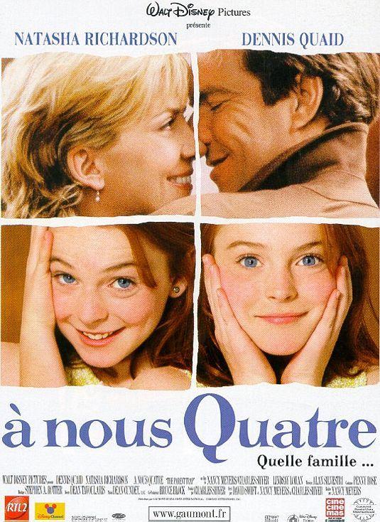walt disney company walt disney pictures affiche a nous quatre poster parent trap 1998