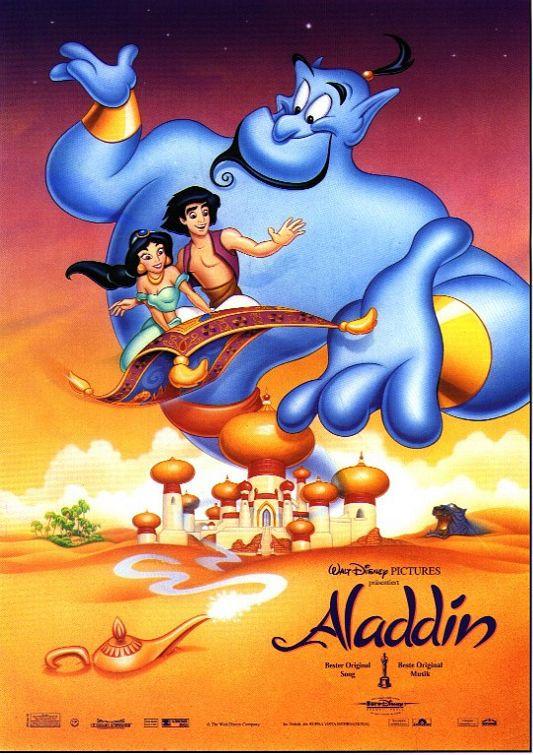 walt disney animation affiche aladdin poster