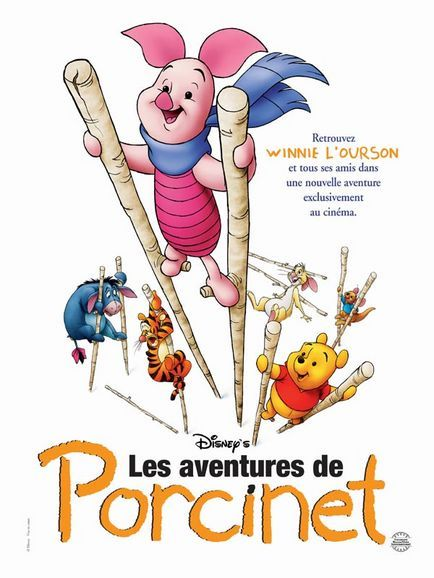 walt disney animation disneytoon studios affiche aventure porcinet poster piglet's big movie
