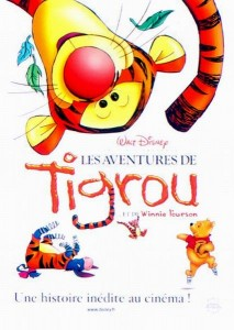walt disney animation disneytoon studios affiche aventures tigrou poster tigger movie