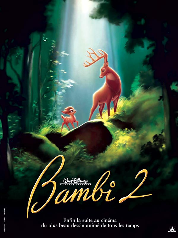walt disney animation disneytoon studios affiche bambi 2 poster