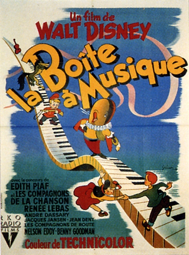 walt disney animation affiche boite a musique poster make mine music