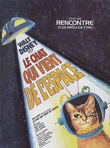 walt disney company walt disney pictures affiche chat vient espace cat outer space
