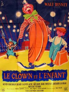 walt disney company walt disney pictures affiche clown enfant poster Toby Tyler ten weeks circus