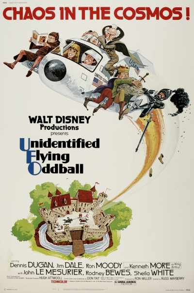 walt disney company walt disney pictures affiche cosmonaute chez roi arthur poster unidentified flying oddball