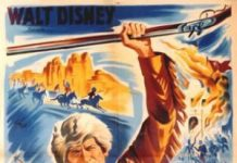 walt disney company walt disney pictures affiche davy crockett roi trappeurs poster davy crockett king wild frontier