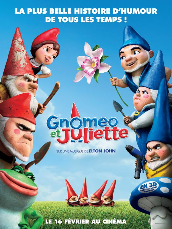 walt disney company touchstone pictures affiche gnomeo juliette poster gnomeo juliet