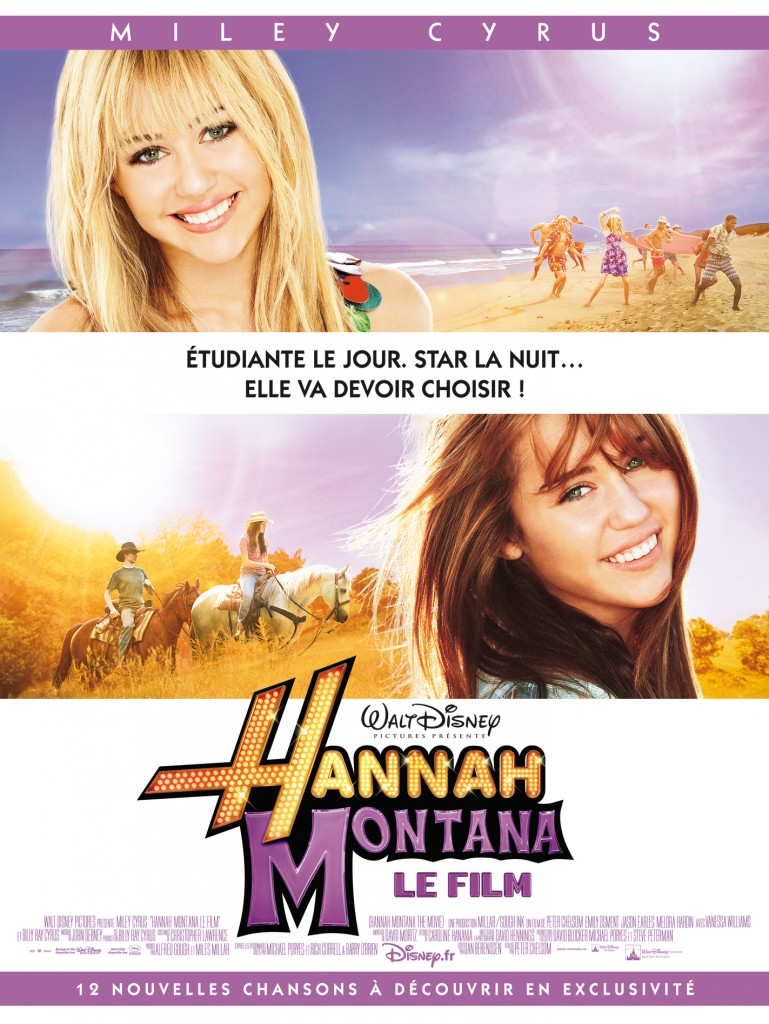 walt disney company walt disney pictures affiche hannah montana film poster movie