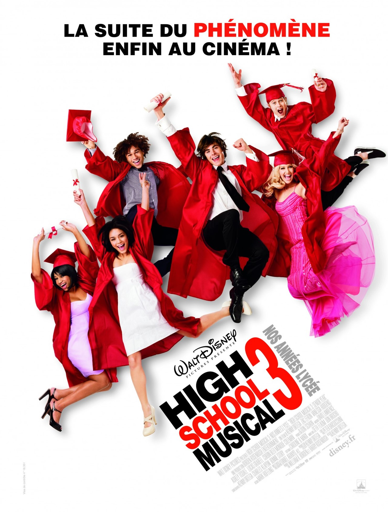 walt disney company walt disney pictures affiche high school musical 3 annees lycee poster senior year