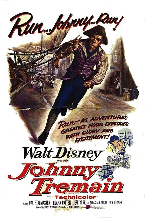 walt disney company walt disney pictures affiche johnny tremain poster